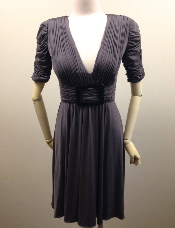 Alex Perry Ruched Pleated Jersey Dress with Buckle Size 8 Race Wear, Party, Prom, Cocktail, Dinner