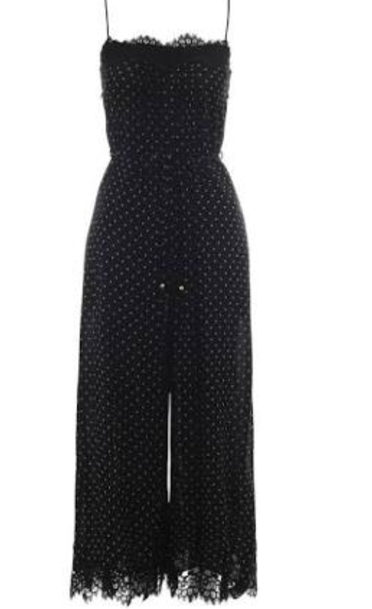 5f4d730077 Navy polka dot and lace jumpsuit · Zimmerman ...