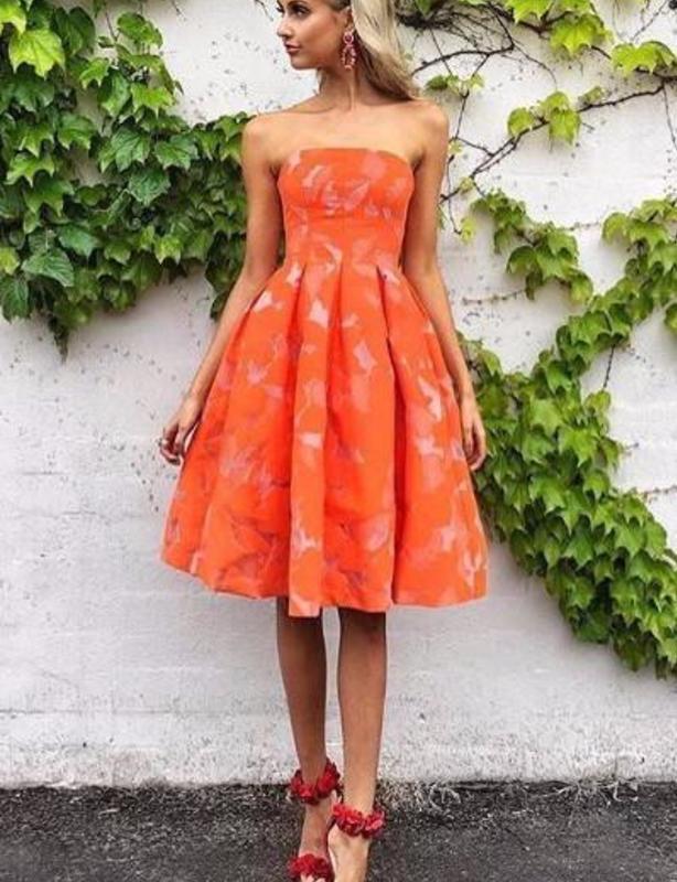 50207b3e82d Red-Orange Cocktail Dress – Fashion dresses