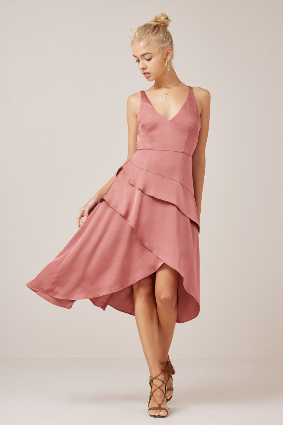 2edfe913ae465 Finders Keepers Seasons Dress Soft Mauve | The Volte