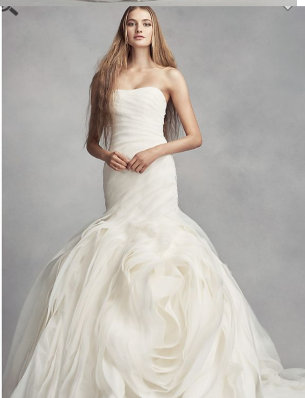 Vera Wang White Organza Wedding Dress
