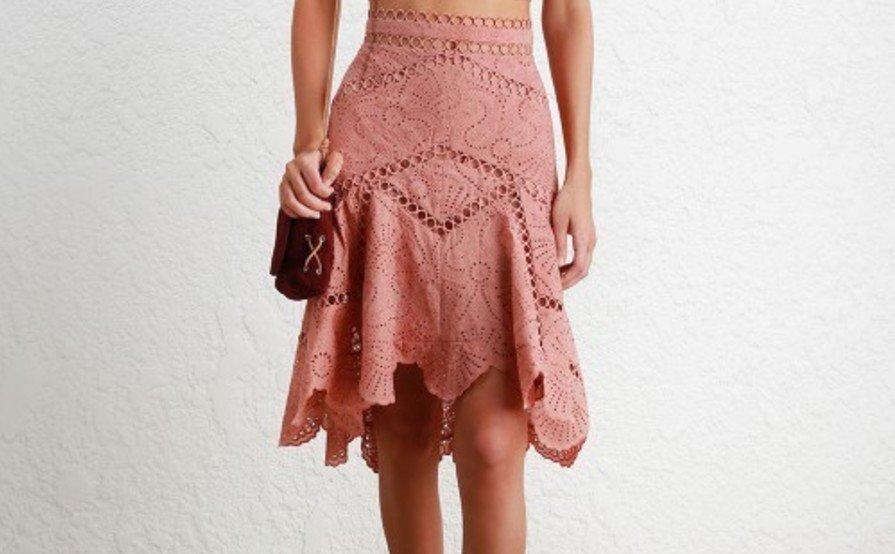Zimmermann Jasper Fan Skirt and Bralette Top size 2