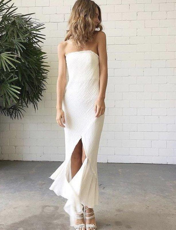 KitX crushed linen dress