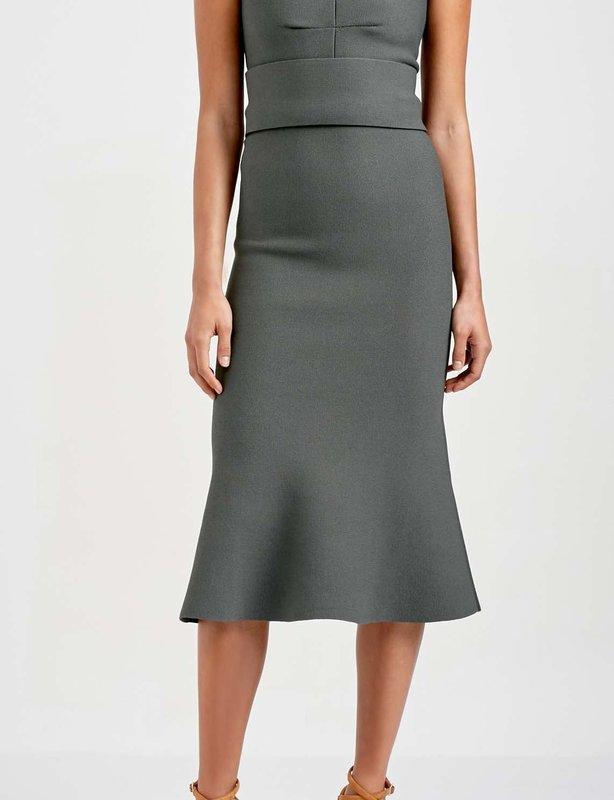 Scanlan Theodore - Crepe Knit Bralette Dress