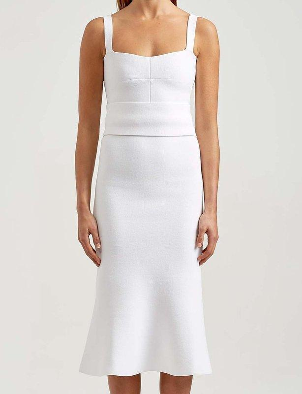 SCANLAN THEODORE White Crepe Knit Bralette Dress size 10