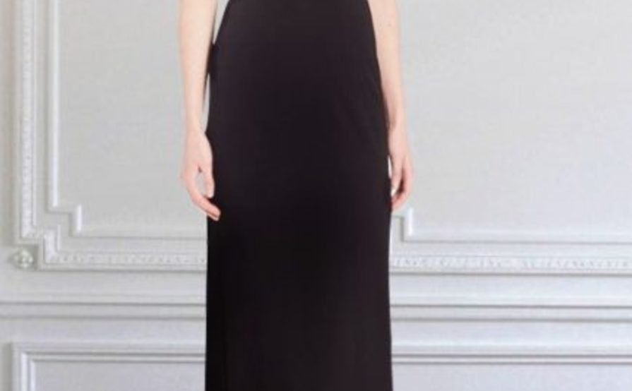 ABS by Allen Schwartz Cowl Neck Gown in Black size 8 | The Volte