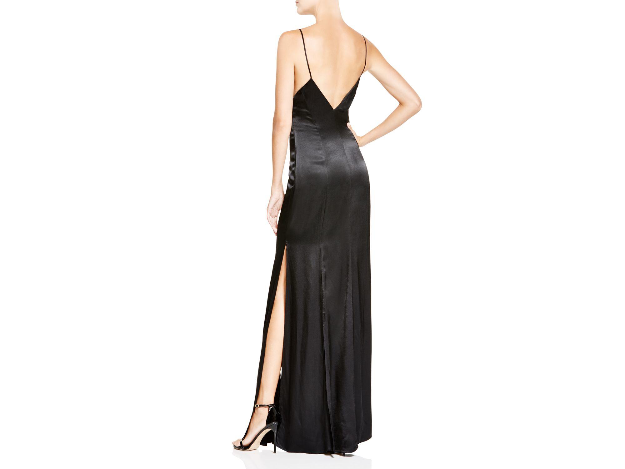 ABS by Allen Schwartz V-neck Slip Gown – Black size 8 | The Volte