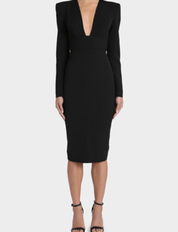 ALEX PERRY  Black Maura V Pencil Dress size 8