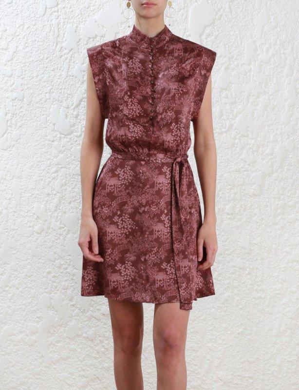 Zimmermann Folly high collar shift dress