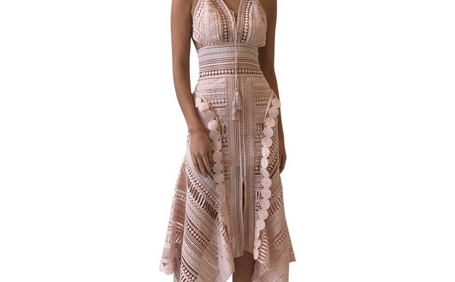 THURLEY MOON OVER WATER DRESS NUDE Size 8