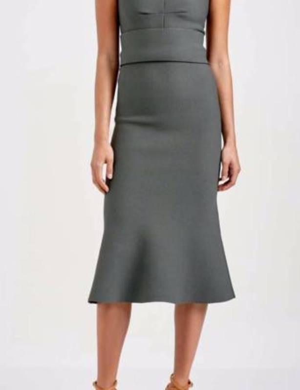 Scanlan & Theodore Crepe Knit Bralette Dress XS