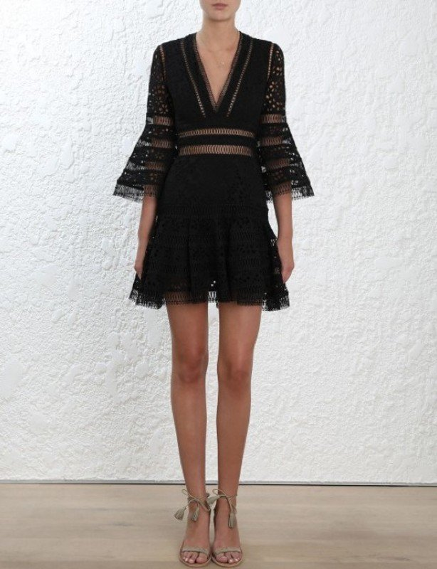 ZIMMERMANN LOVELORN FLUTTER DRESS