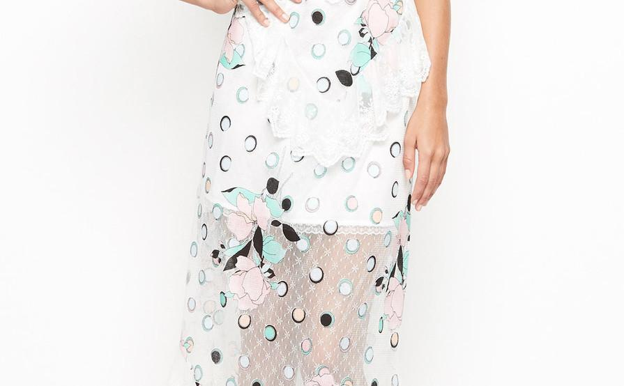 590c7d606c79 Alice McCall 'We are Golden' Spot the Dot White Dress | The Volte