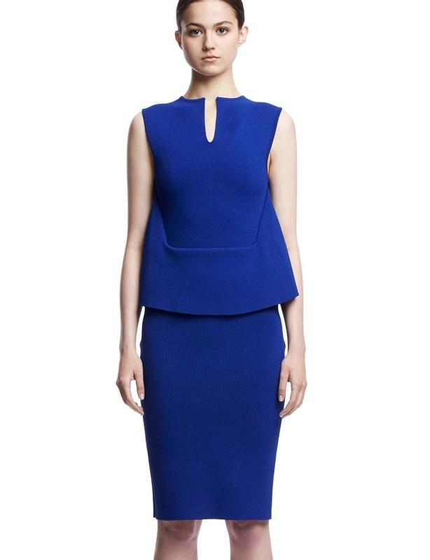 Scanlan Theodore Blue Crepe Knit Dress size 10