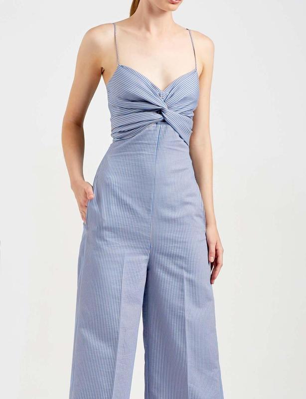Scanlan Theodore Striped Bralette Jumpsuit size 6