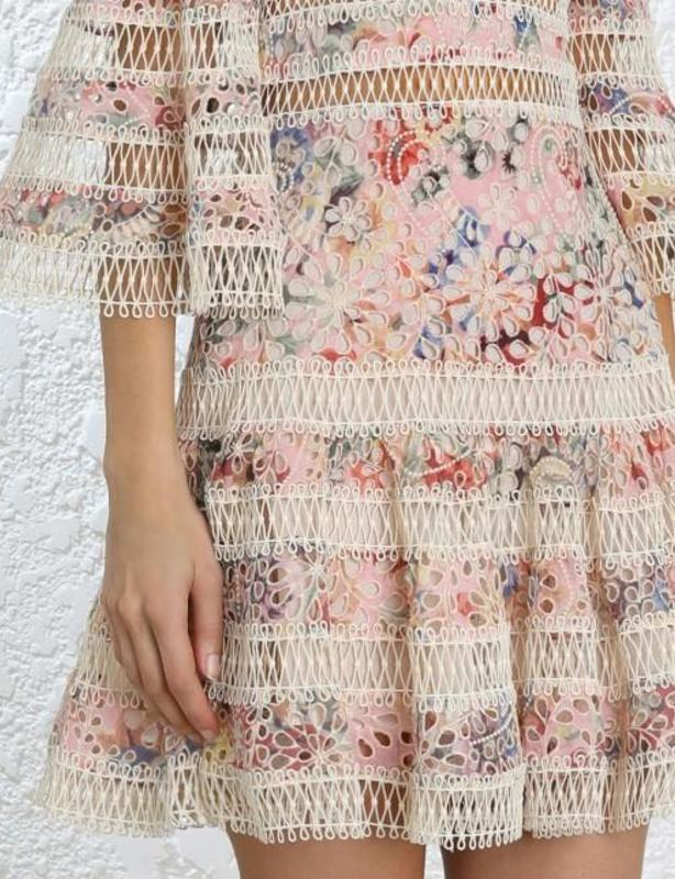 Zimmermann Lovelorn Floral Flutter Dress