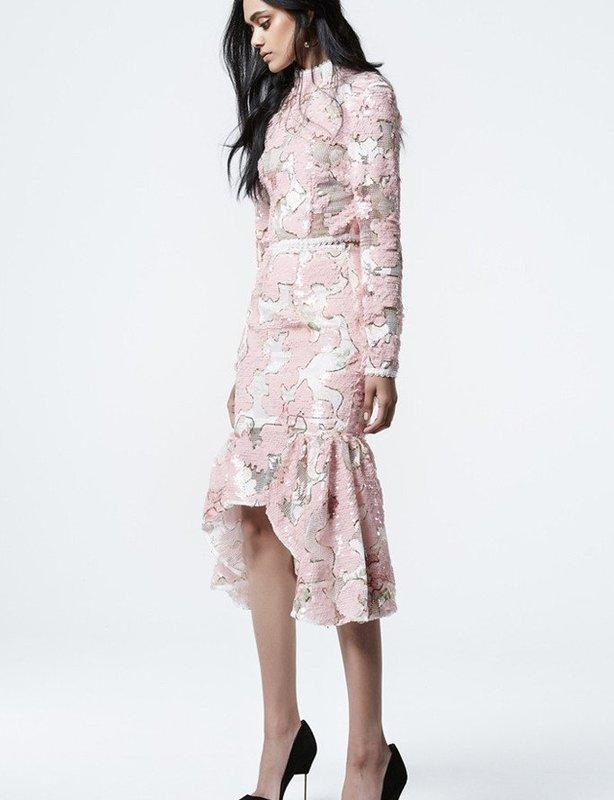 Asilio- Luck be Lady Two Piece-Top & Skirt (Pink & Gold) size 8